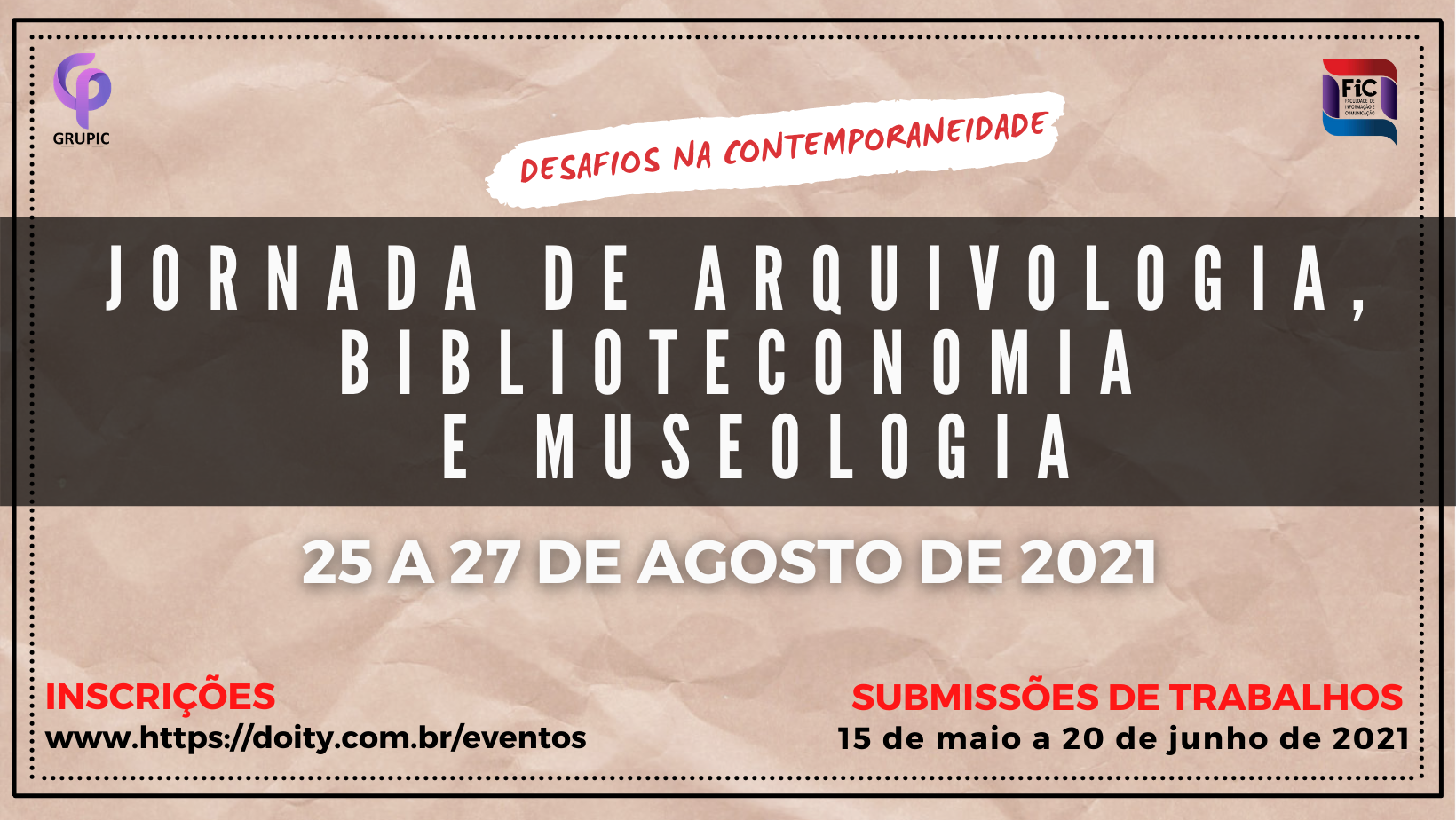 I Jornada de Arquivologia, Biblioteconomia e Museologia - JABIM